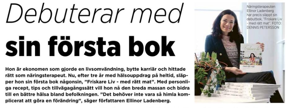 Artikel i Linköpingsposten – Intervju om nya boken Friskare Liv